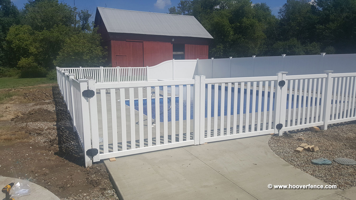 Chesterfield and Baron Vinyl Fence Installation by Hoover Fence Co - Southington, OH