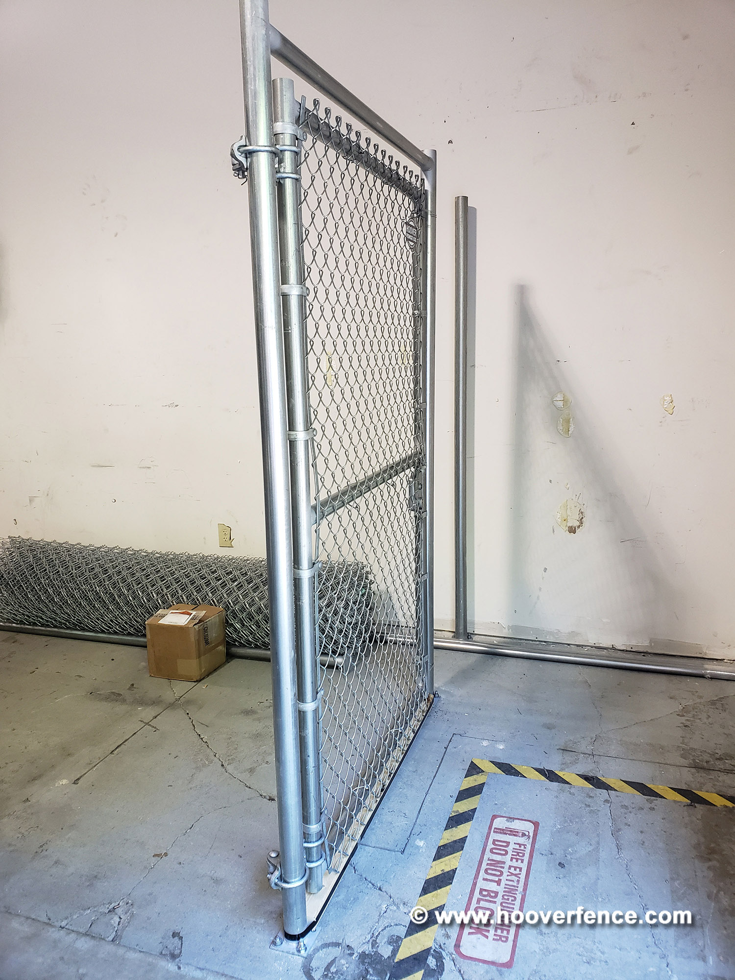 Indoor Chain Link Storage Cage Installation with Pre-Hung Chain Link Gate