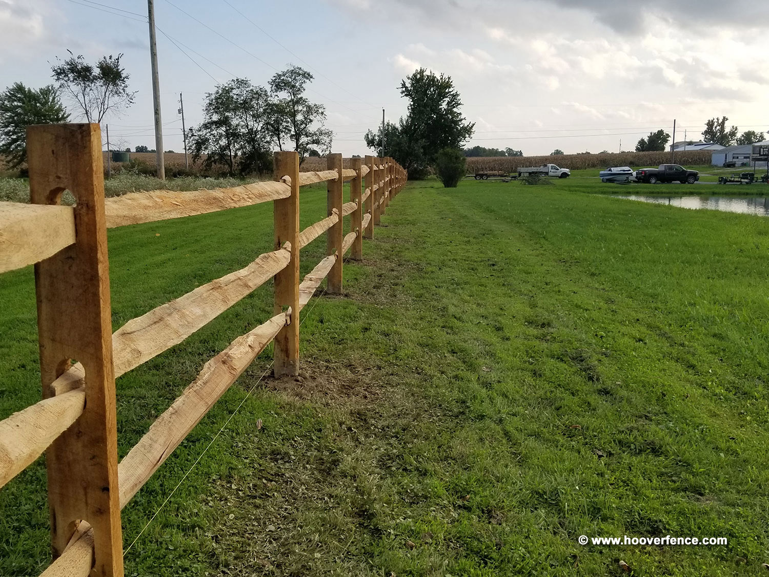 West Virginia Lap Rail Fence Installation by Hoover Fence - Beloit, OH 10-2018