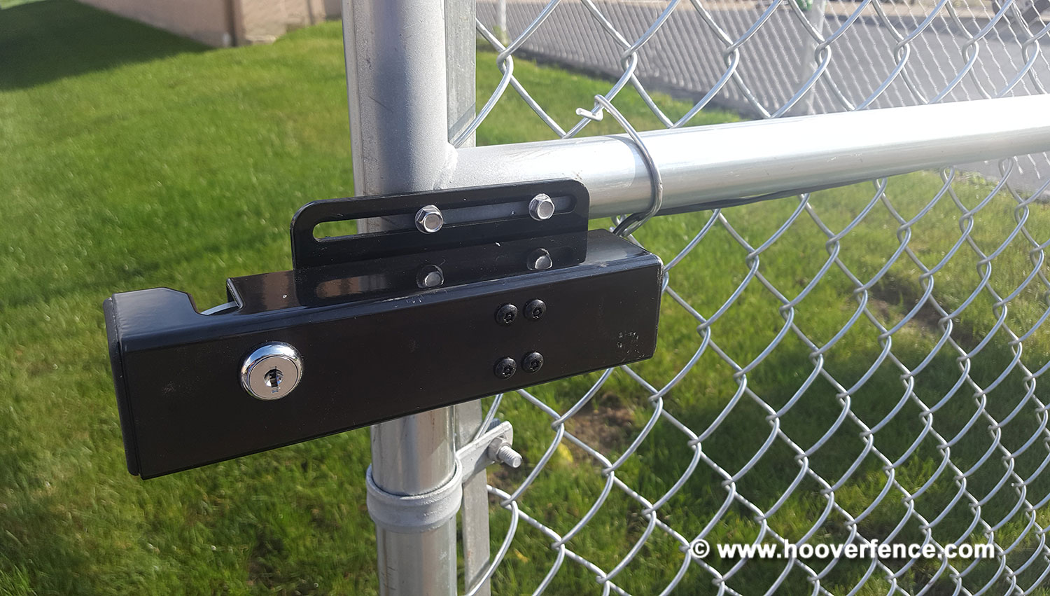 HFC Install - Commercial Chain Link Double Gate with Gate Openers