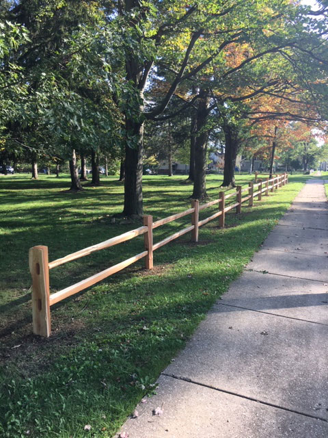 Western Red Cedar Split Rail Fence - Pony Grade