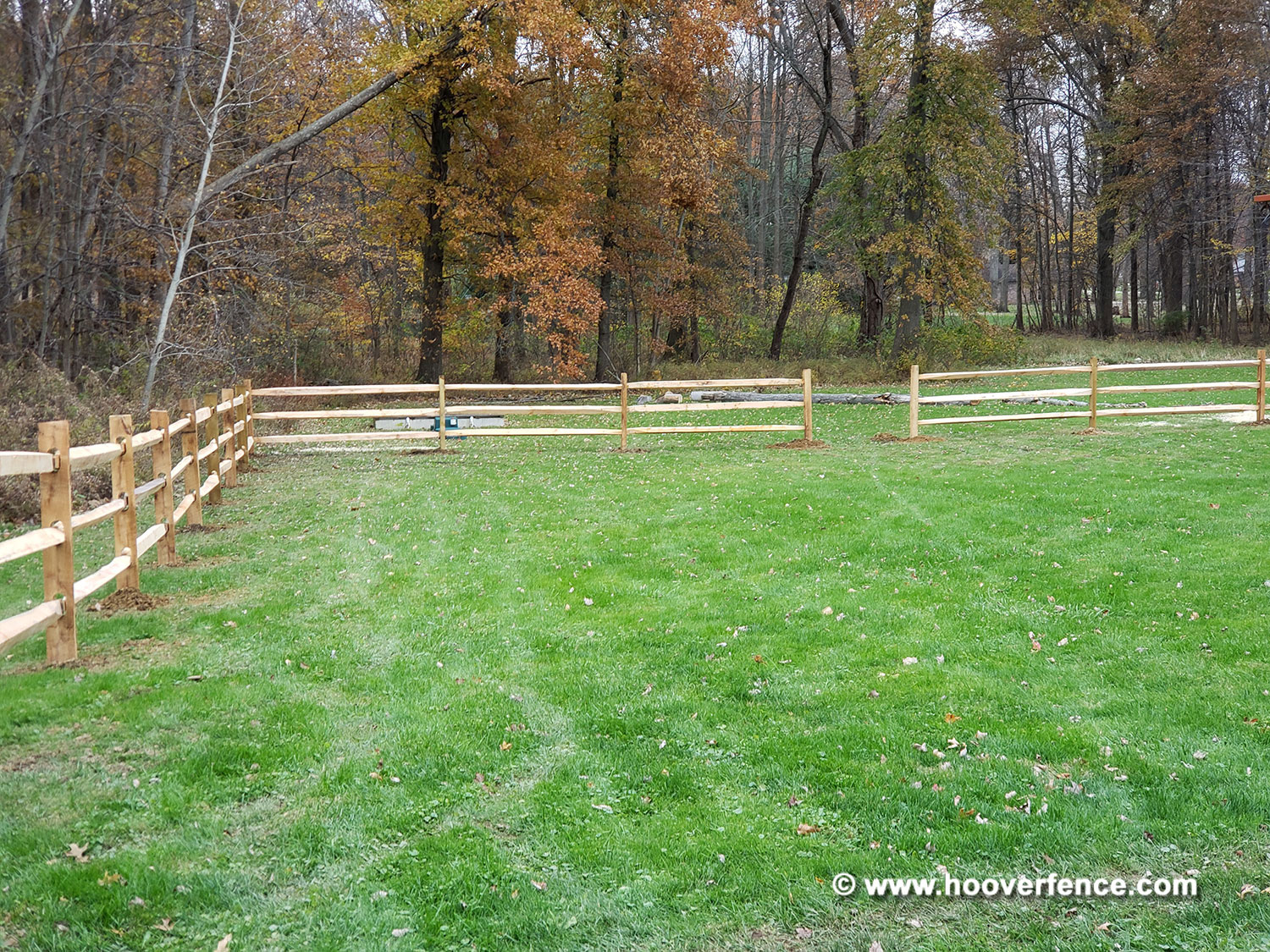West Virginia Lap Rail Installation with Brown Chain Link for Dogs