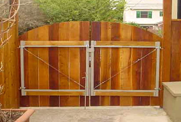 Wooden Fence Double Gate Designs