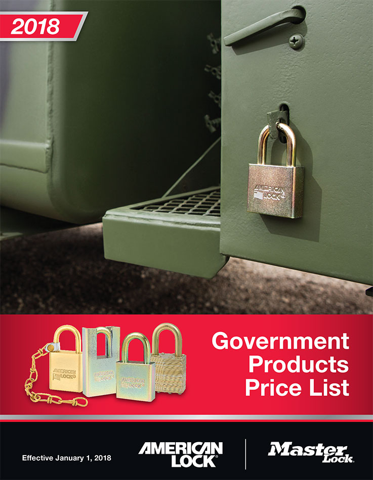 MasterLock and AmericanLock Government Security Products Catalog
