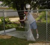 Stretching Chain Link Fence Fabric