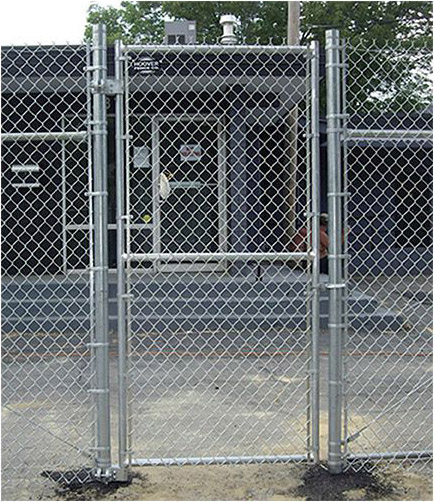 Single Industrial Chain Link Swing Gate