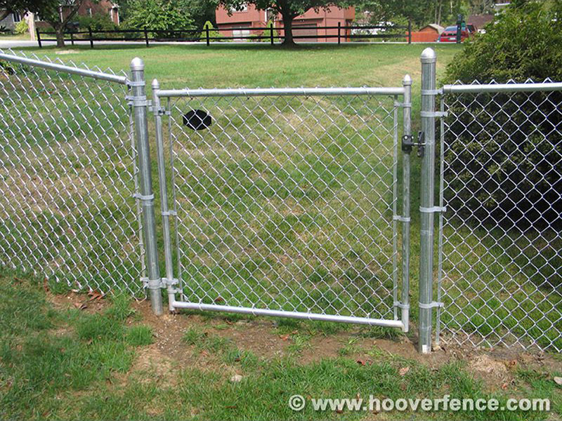 Single Residential Chain Link Swing Gate