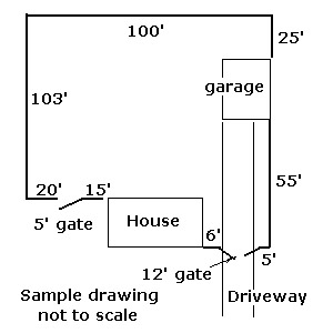 Sample Fence Layout Drawing