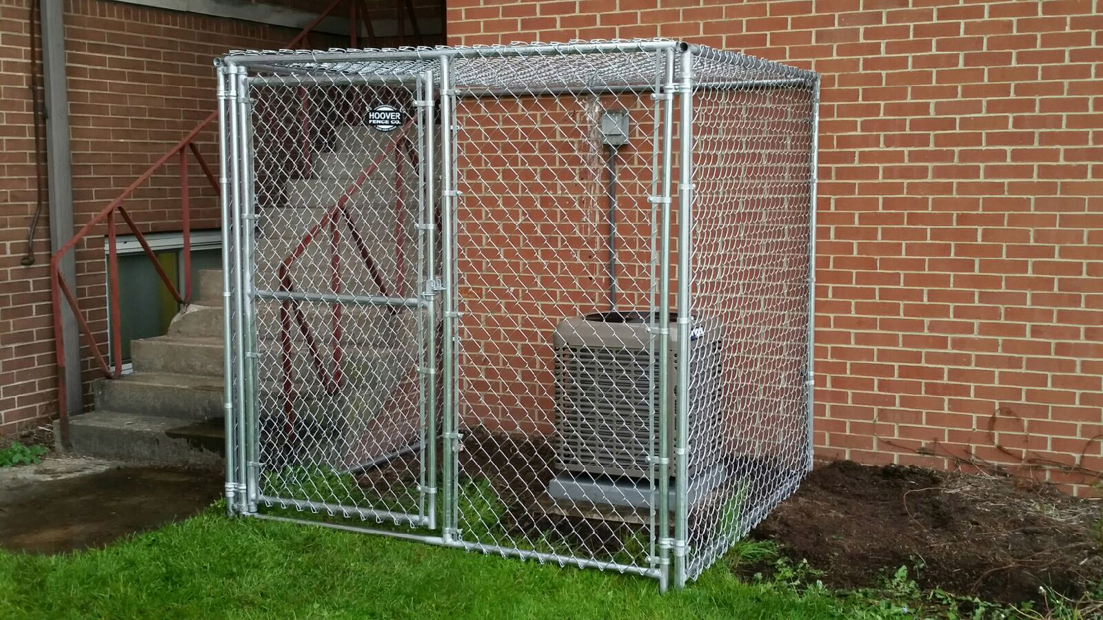 Individual modular kennel panel pricing hoover fence co ac cage built from chain link kennel panels baanklon Choice Image