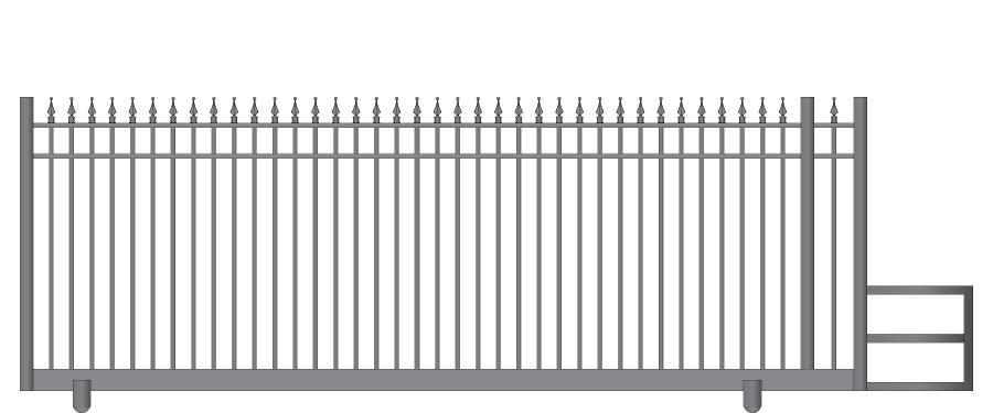 Ideal Ornamental Aluminum Cantilever Slide Gates