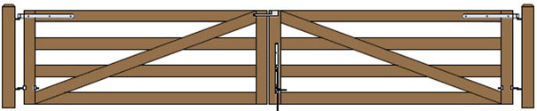 20'W Double Maine Board Gate Plans