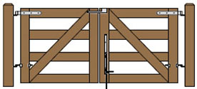 8' Wide Double Maine Board Gate Plans