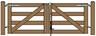 10'W Double Maine Board Gate Plans