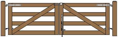12'W Double Maine Board Gate Plans