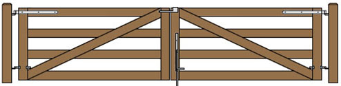 16'W Double Maine Board Gate Plans