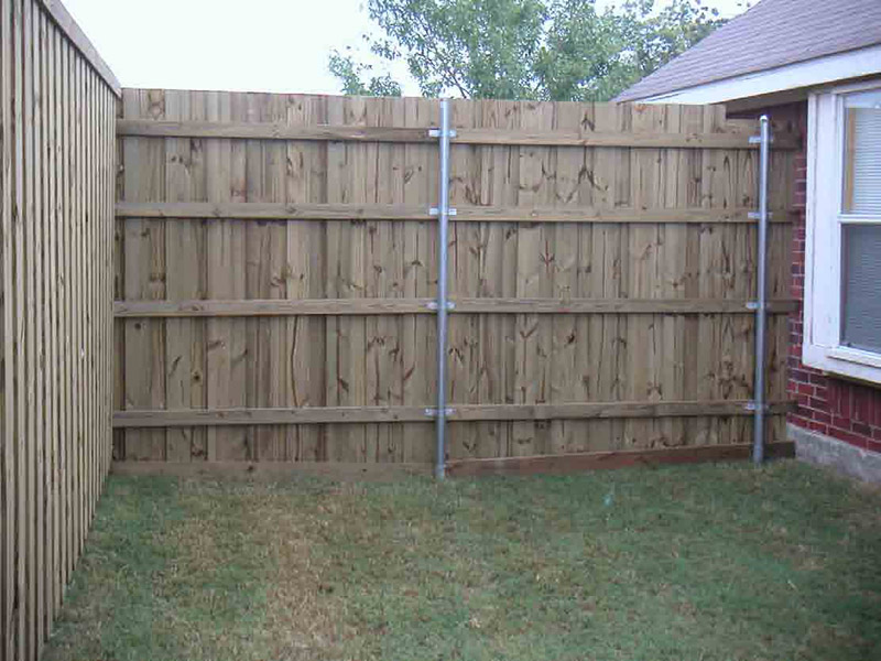 how to install a fence on a concrete
