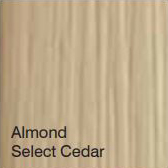 Bufftech Color Sample - Almond Select Cedar