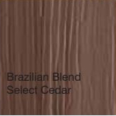 Bufftech Color Sample - Brazilian Blend Select Cedar