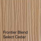 Bufftech Color Sample - Frontier Blend Select Cedar