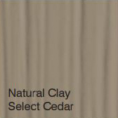Bufftech Color Sample - Natural Clay Select Cedar