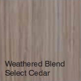 Bufftech Color Sample - Weathered Blend Select Cedar