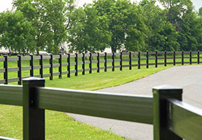 Superior Plastics Black Post & Rail