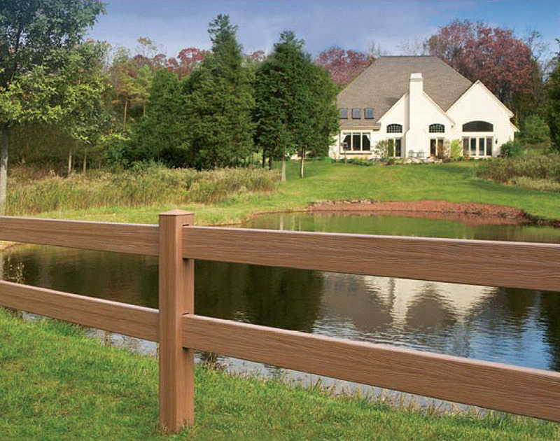 Post and Rail Style Vinyl Fence