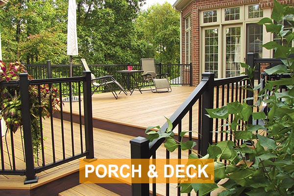 Shop Railing, Porch Posts, and Decking