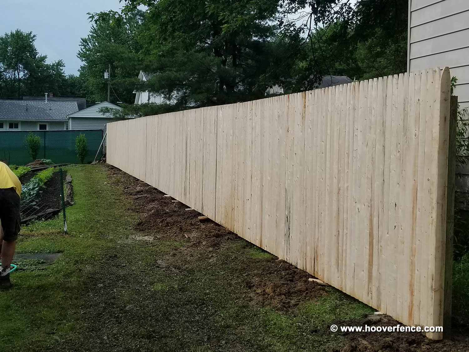 Solid Stockade Wood Fence Panels Straight Top Spruce