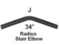 Round Aluminum Secondary Handrail - Part J