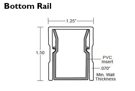 American Railing - Bottom Rail Specs