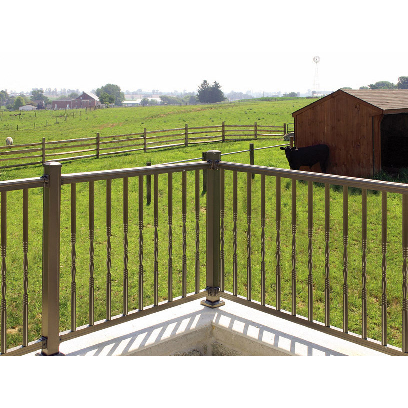 American Railing with Decorative Round Balusters