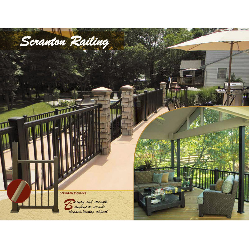 American Railing with Square Balusters