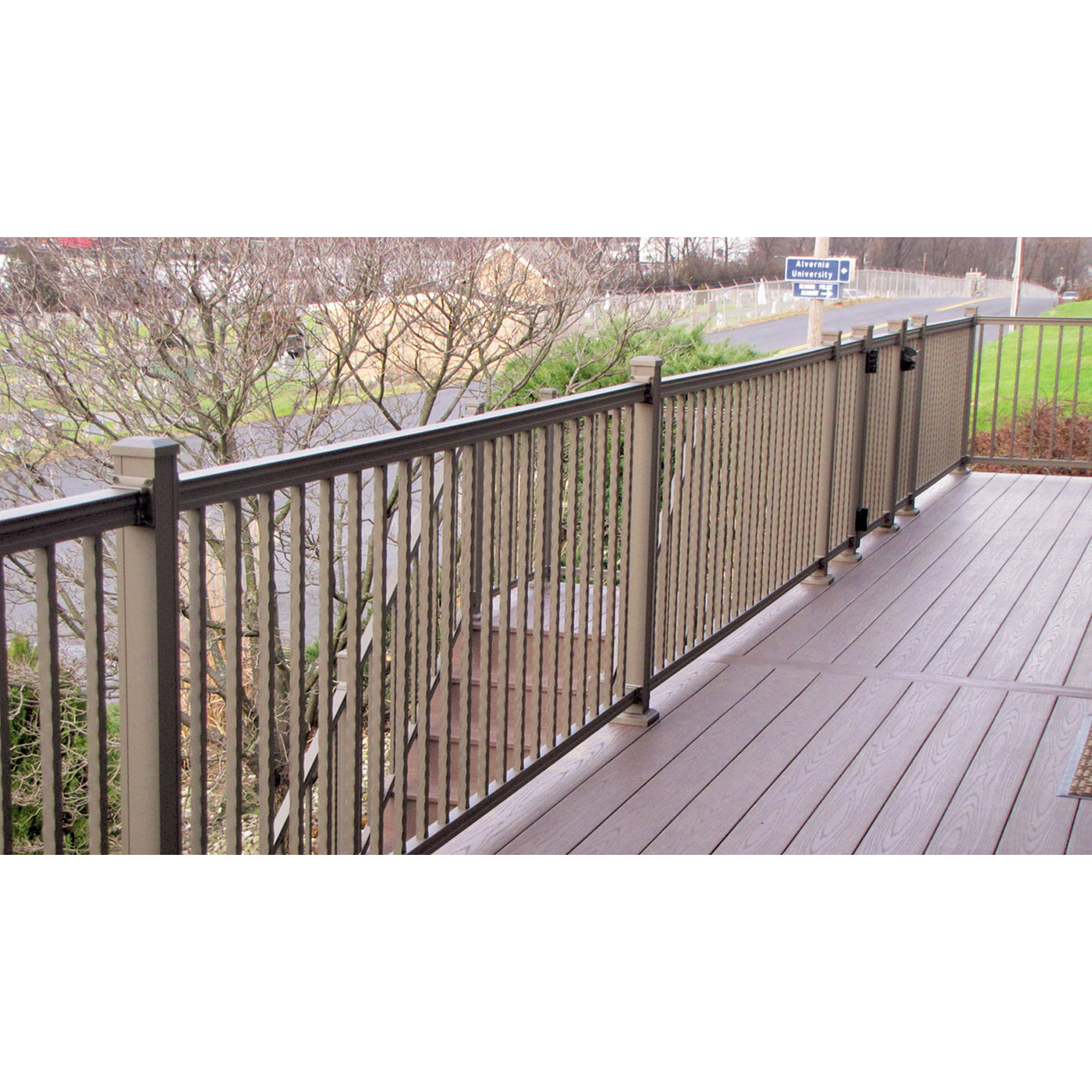 American Railing with Square Hammered Balusters