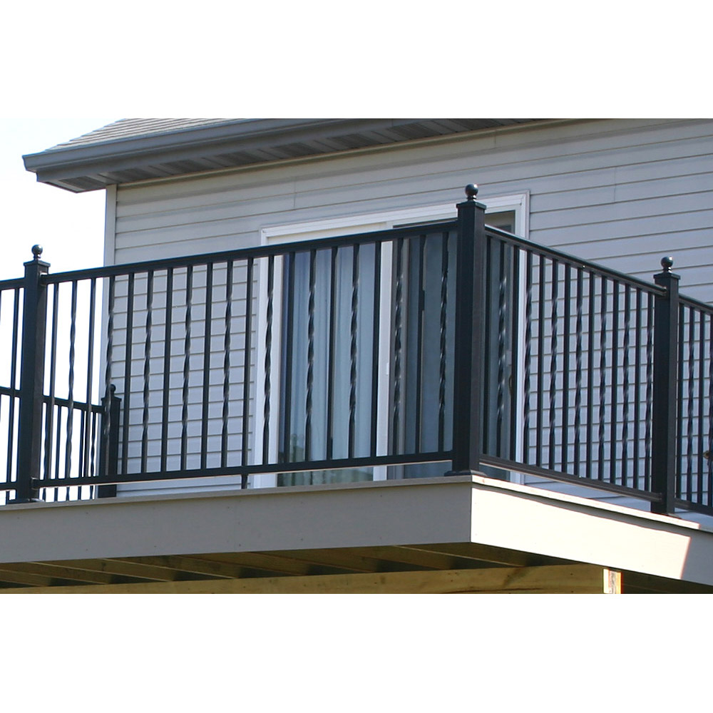 Arabian Railing with Alternating Square and Twisted Balusters