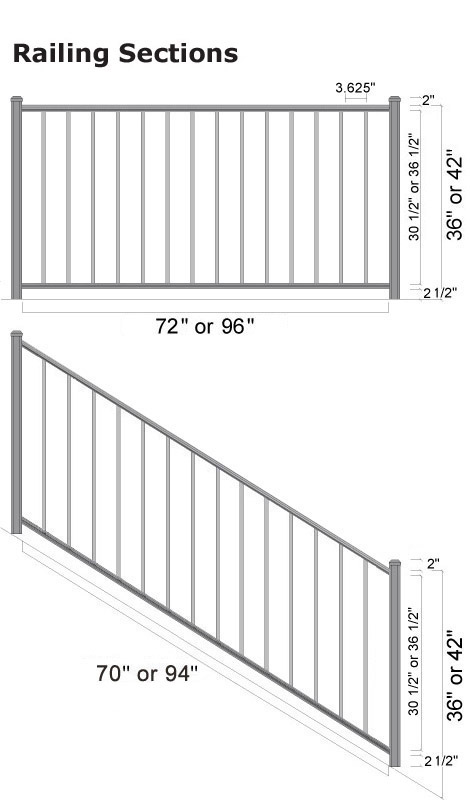 Arabian Railing - Section Specs