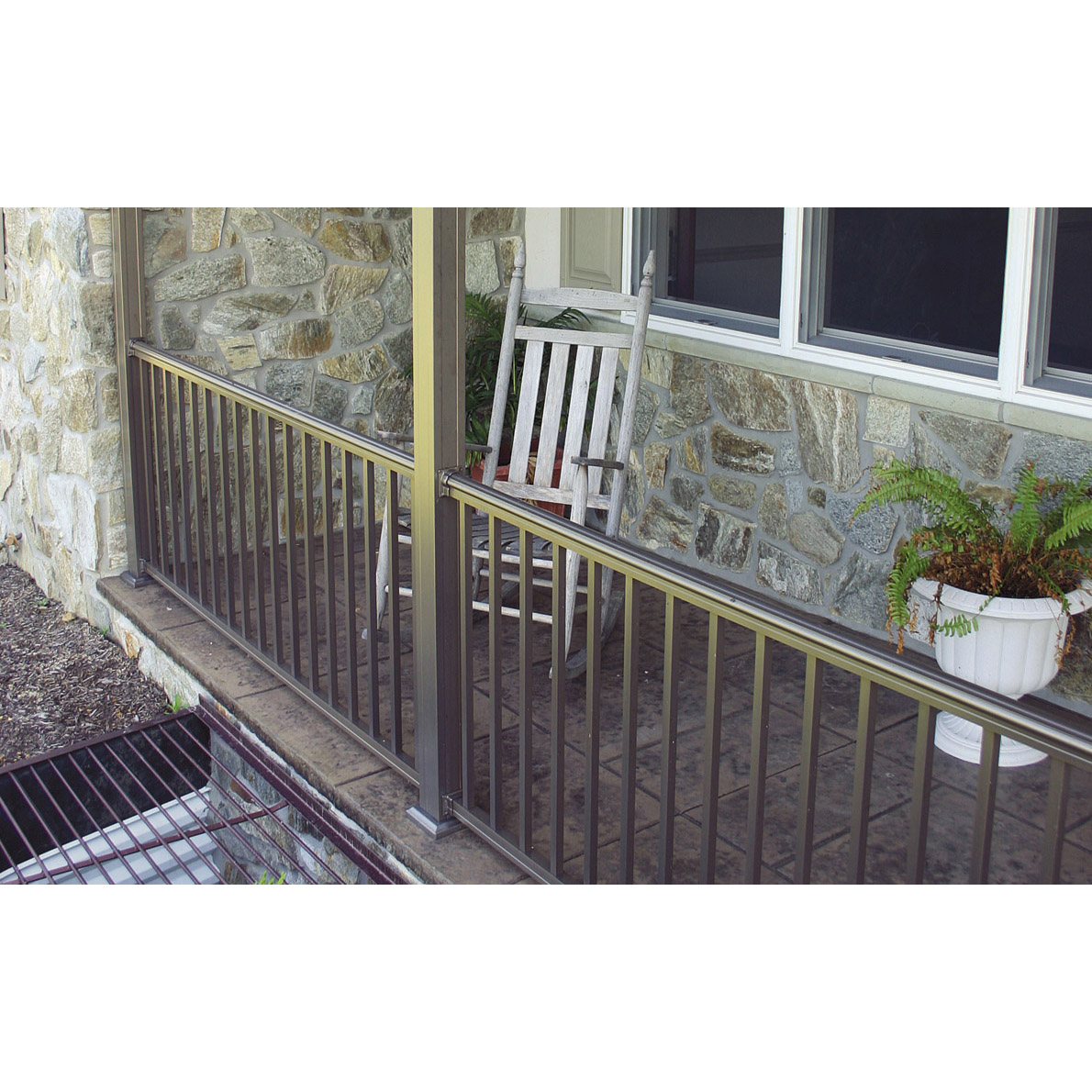 Arabian Railing with Square Balusters