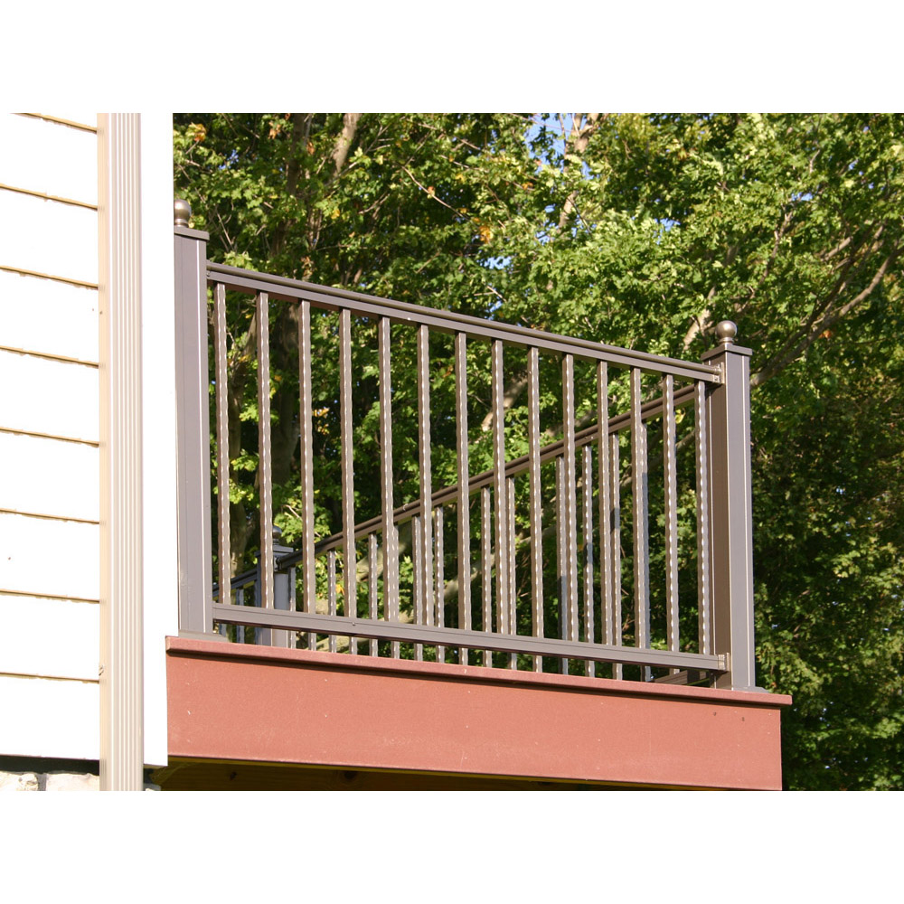 Arabian Railing with Square Hammered Balusters