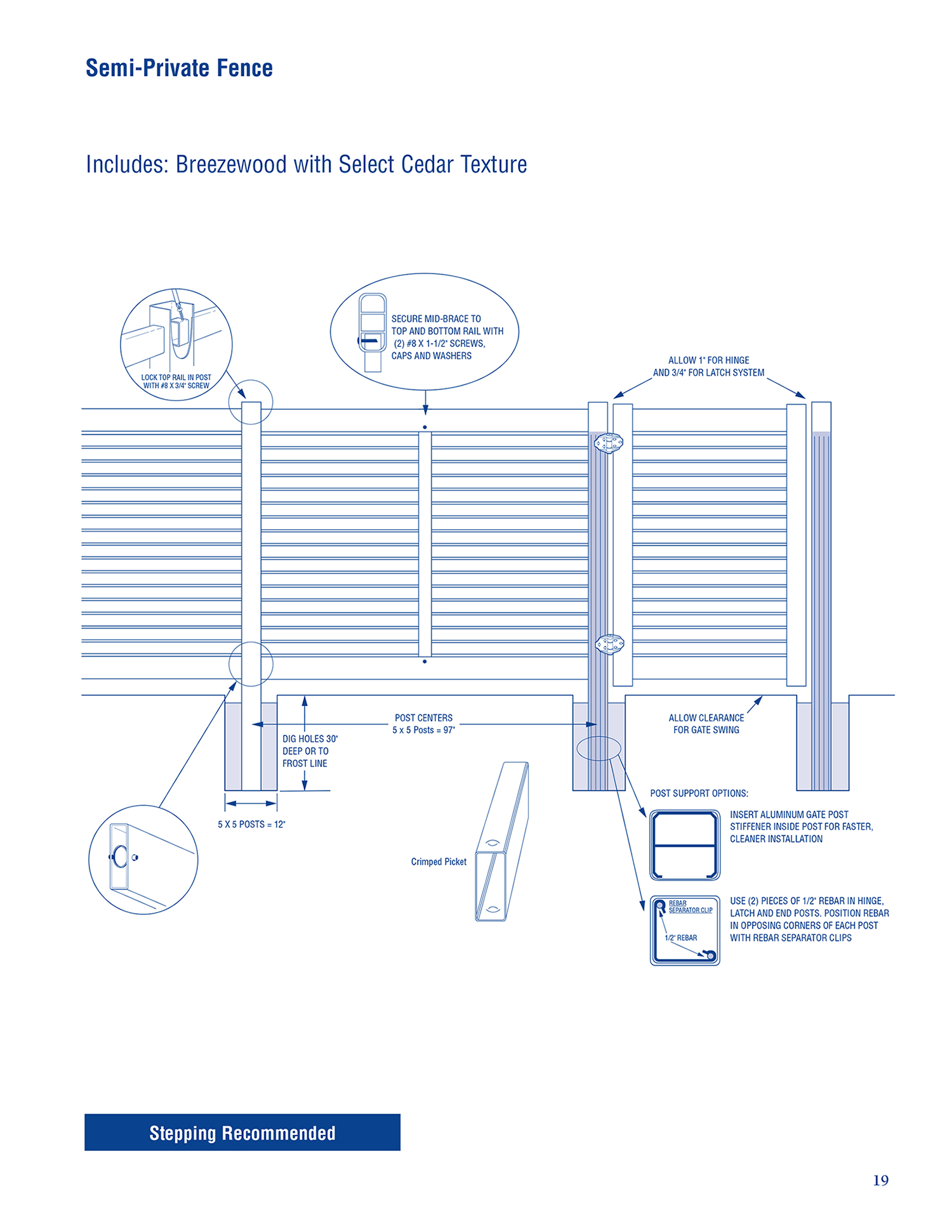 Breezewood Select Cedar - Installation Diagram