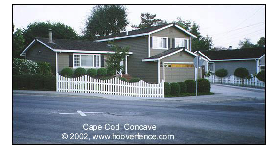 Cape Cod Concave Fence