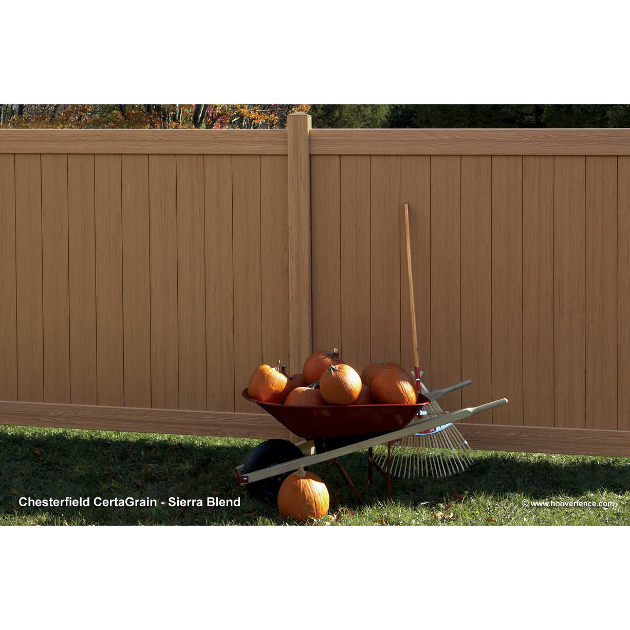 Bufftech Chesterfield Certagrain Vinyl Fence Sections