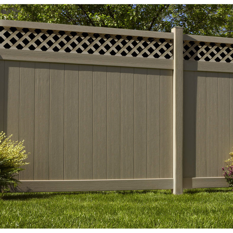 Chesterfield CertaGrain with Lattice Accent Fence