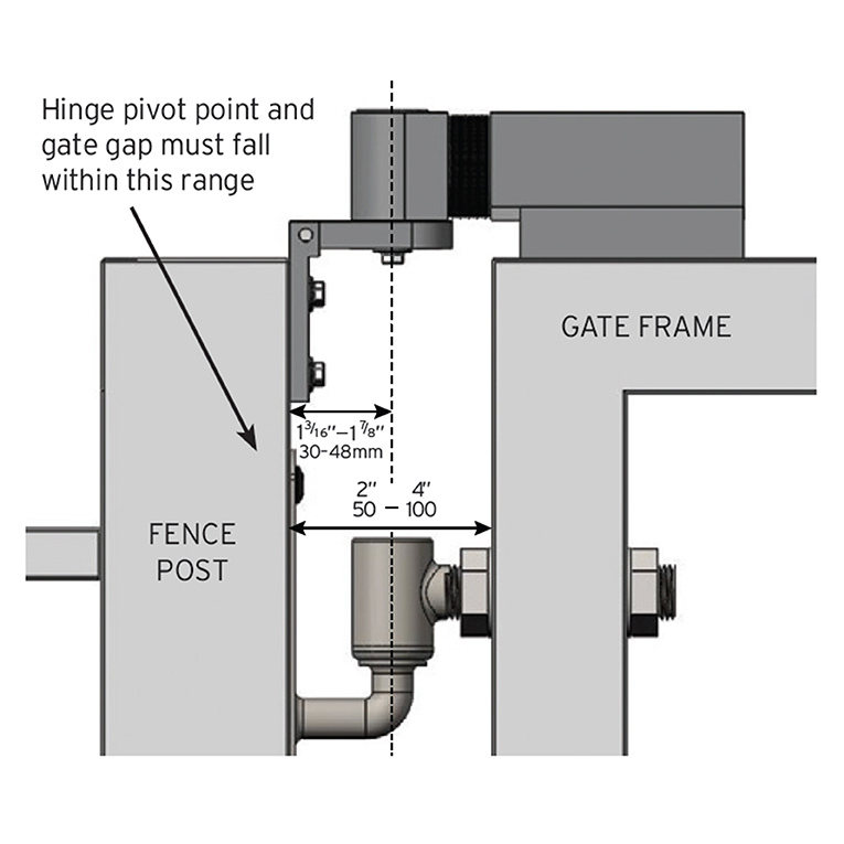 Sureclose Easy Hydraulic Gate Closer For Center Hinge