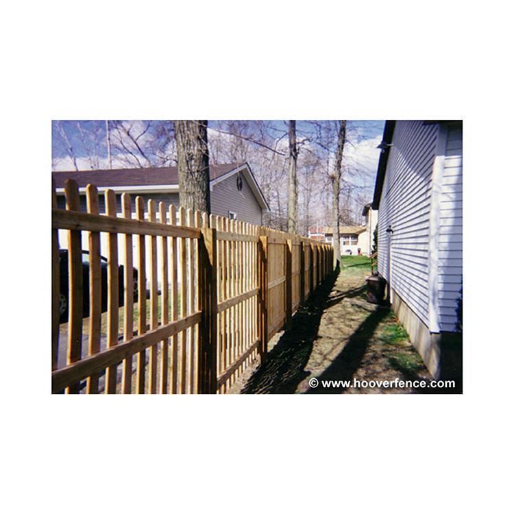 Spaced Dog Ear Wood Fence Panels Cedar Hoover Fence Co