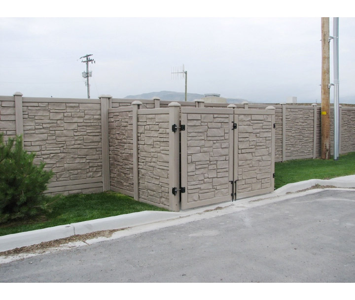 Simtek Ecostone Vinyl Fence Sections Hoover Fence Co