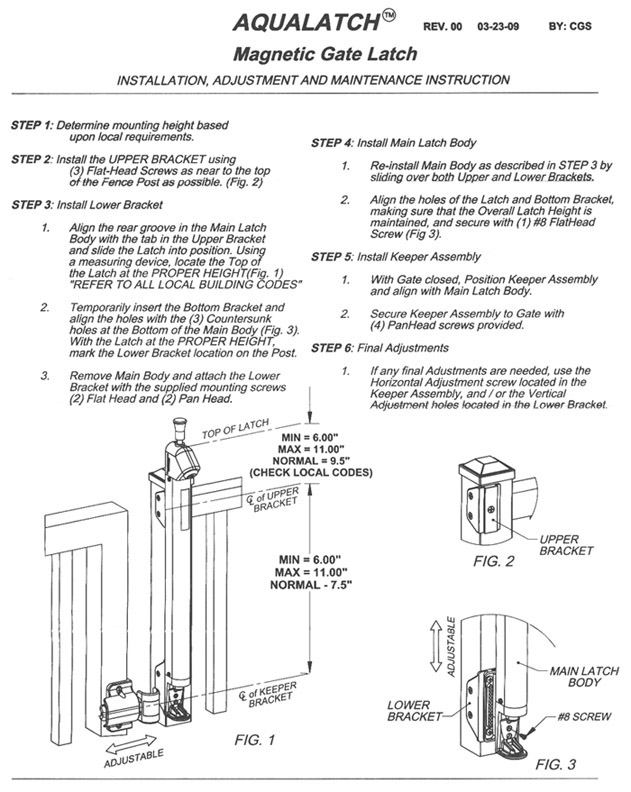 magna latch installation instructions