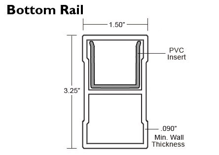 Lancaster Railing - Bottom Rail Specs