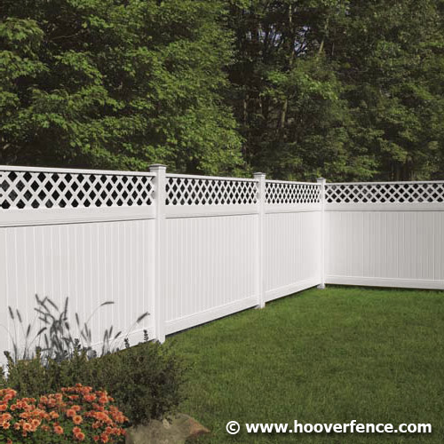 New Lexington with Lattice Accent Fence