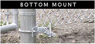 No-Dig Gate Holdback Bottom Mount Example