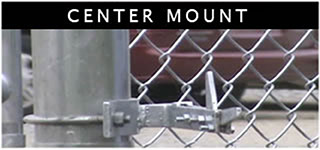 No-Dig Gate Holdback Center Mount Example